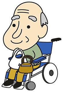高齢者 椅子イラスト